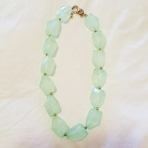H&M Mint Green Rock Stone Crystal Necklace Pendant